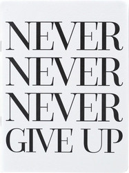 Teresa Collins Designer Notebook -muistivihko Never Never Never Give Up