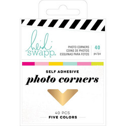 Heidi Swapp Color Fresh Photo Corners -valokuvakulmat, 40 kpl
