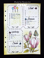 Crealies Journalzz & Plannerzz sapluuna weekly Spread A