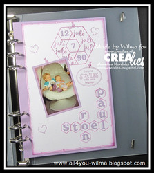 Crealies Journalzz & Plannerzz sapluuna Decoration Hexagons