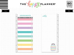 Mambi Happy Planner Classic Half Sheet paperipakkaus, Student - Assignments