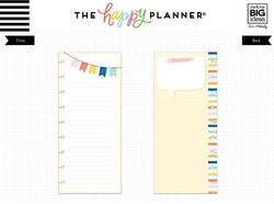 Mambi Happy Planner Classic Half Sheet paperipakkaus, Notes Banner