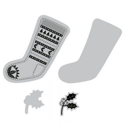 Sizzix Framelits stanssi- ja leimasinsetti Fairisle Stocking