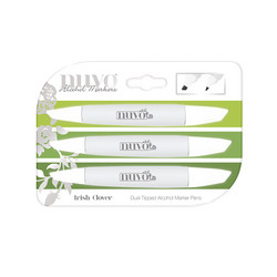 Nuvo Dual Tipped Alcohol Marker -tussit, sävy Irish Clover