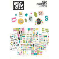 Simple Stories Carpe Diem Budget -tarrat, A5, 548 kpl