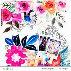 Altenew paperipakkaus Alluring Blooms