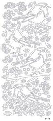 Aurelie ääriviivatarra-setti Birds, 10 kpl