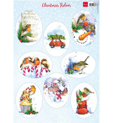 Marianne Design korttikuvat Christmas Robins