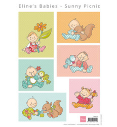 Marianne Design Eline's Babies, Sunny Picnic -korttikuvat