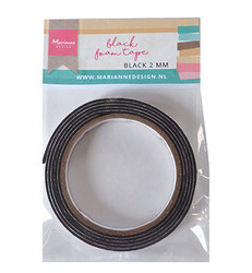 Marianne Design foam tape, kohoteippi, musta, 2 mm
