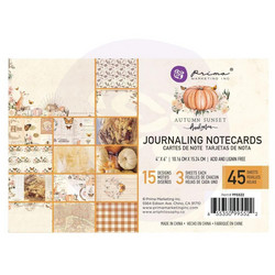 Prima Autumn Sunset Journaling Cards,  4