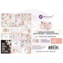 Prima Apricot Honey Journaling Cards,  4