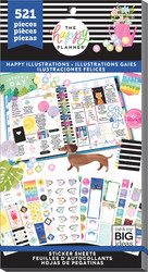 Mambi Happy Planner Value -tarrapakkaus Happy Illustrations