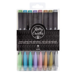 Kelly Creates Small Brush Pens kynäsetti Metallic Jewel