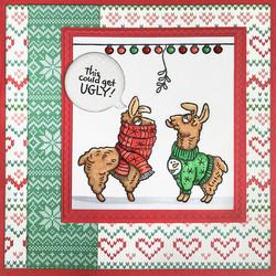 Stampendous leimasinsetti Llama Sweaters