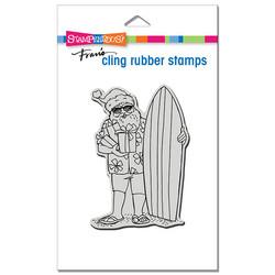 Stampendous leimasin Surfing Santa