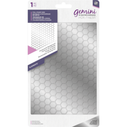 Gemini Foil Stamp Die -kuviolevy Honeycomb Background