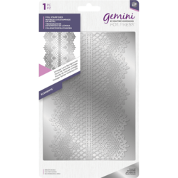Gemini Foil Stamp Die -kuviolevy Vintage Lace Background