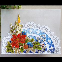 Heartfelt Creations Candlelit Poinsettia -leimasin