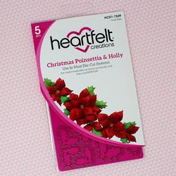 Heartfelt Creations Christmas Poinsettia & Holly -stanssisetti