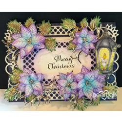 Heartfelt Creations 3D Christmas Poinsettia Shaping -muotit