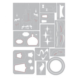 Sizzix Tim Holtz Thinlits stanssisetti Regions Beyong