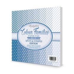 Hunkydory Colour Families  Spots & Stripes paperipakkaus Blue