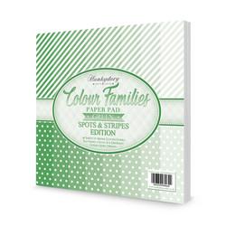 Hunkydory Colour Families  Spots & Stripes paperipakkaus Green