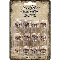 Tim Holtz Idea-Ology Resin Skull Fragments -koristeet