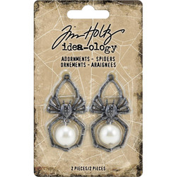 Tim Holtz Idea-Ology Metal Adornments Spiders -koristeet