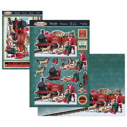 Hunkydory Stepping Into  Christmas Luxury Topper -pakkaus, Santa's Express