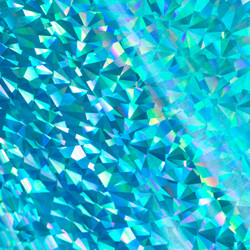GoPress Heat Activated -folio, Cyan Foil, Iridescent Triangular Pattern