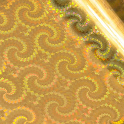 GoPress Heat Activated -folio, Gold Foil, Iridescent Spiral Pattern