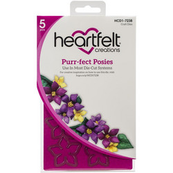 Heartfelt Creations Purr-fect Posies -stanssisetti