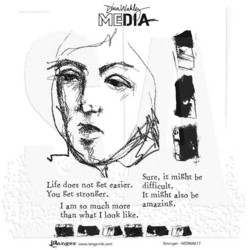 Dina Wakley Media leimasinsetti Stronger