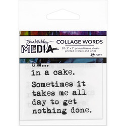 Dina Wakley Media Collage Word Pack 3 Tissue -paperipakkaus