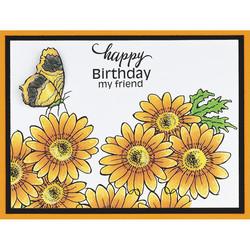 Stampendous leimasinsetti Daisy Birthday