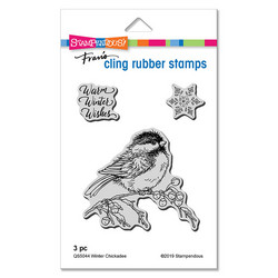 Stampendous leimasin Winter Chickadee
