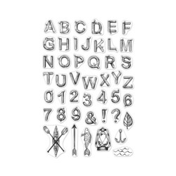 Hero Arts leimasinsetti Log Letters and Numbers