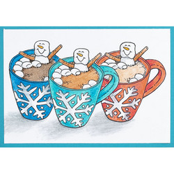 Stampendous leimasin Cocoa Hot Tub