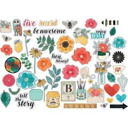 Vicki Boutin Wildflower & Honey -leikekuvat Cardstock Ephemera Icons