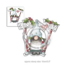 Polkadoodles Peace and Joy -leimasin