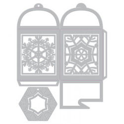 Sizzix Thinlits stanssisetti Snowflake Favor Box