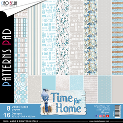 Ciao Bella Patterns Pad paperipakkaus Time For Home, 12