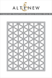 Altenew stanssi Layrered Snowflake Stars Cover B