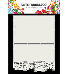 Dutch DooBaDoo Card Art Xmas -sapluuna