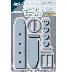 Joy! Crafts Vintage Jeans stanssisetti Buckle & Belt