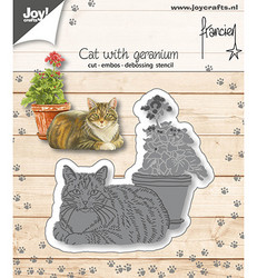 Joy! Crafts stanssi Cat With Geranium