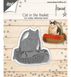 Joy! Crafts stanssi Cat In The Basket