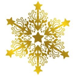 Gemini Foil Stamp Die -kuviolevy Ornate Snowflake